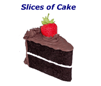 Fake Slices of Cake