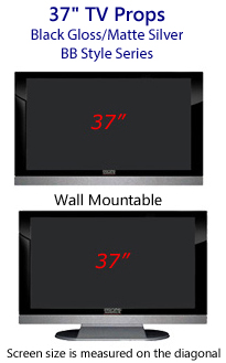 37 TV Props - HDTV Style (with Bottom Speaker) in Gloss Black/Matte Silver