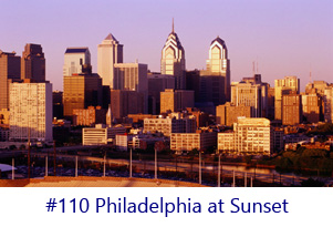 Philadelphia at Sunset Screen Image
