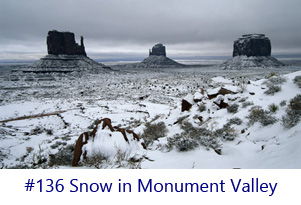 Snow in Monument Valley Screen Image