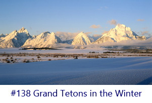 Grand Tetons in the Winter Screen Image