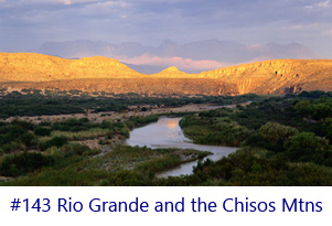 Rio Grande and the Chisos Mountains Screen Image