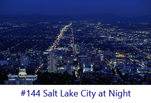 Salt Lake City at Night Screen Image