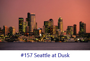 Seattle at Dusk Screen Image