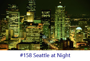 Seattle at Night Screen Image
