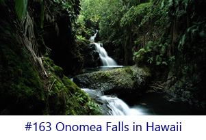Onomea Falls in Hawaii Screen Image