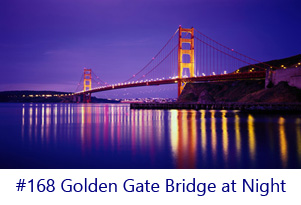 Golden Gate Briage at Night Screen Image