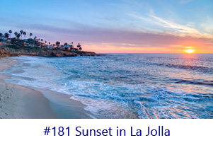 Sunset in La Jolla Screen Image