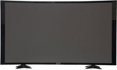 60 TV Props | 60 Inch Prop TVs Gloss Black CC Style with Curved Frame