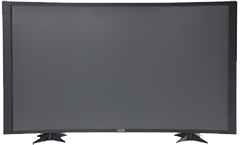 60 TV Props | 60 Inch Prop TVs Matte Black CC Style with Curved Frame