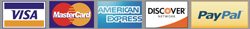Props America Accepts VISA, MasterCard, Discover Card, American Express & PayPal