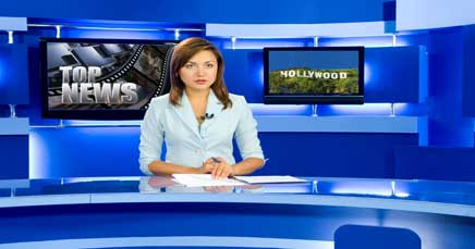 "22"" TV Screen Image #091 Hollywood News (Screen Print Only. 22 Inch TV Prop Not Included)"