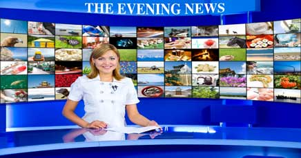 "22"" TV Screen Image #092 Evening News (Screen Print Only. 22 Inch TV Prop Not Included)"