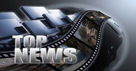 "22"" TV Screen Image #094 Top News (Screen Print Only. 22 Inch TV Prop Not Included)"