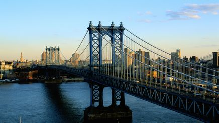 "22"" TV Screen Image #101 Manhattan Bridge (Screen Print Only. 22 Inch TV Prop Not Included)"