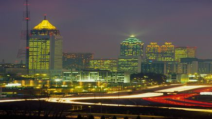"22"" TV Screen Image #112 Atlanta at Night (Screen Print Only. 22 Inch TV Prop Not Included)"