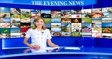 "47"" TV Screen Image #092 Evening News (Screen Print Only. 47 Inch TV Prop Not Included)"