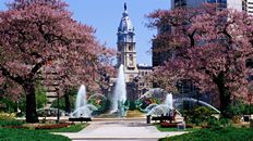 "47"" TV Screen Image #106 Fountain in the Park (Screen Print Only. 47 Inch TV Prop Not Included)"