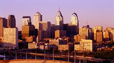 "47"" TV Screen Image #110 Philadelphia at Sunset (Screen Print Only. 47 Inch TV Prop Not Included)"