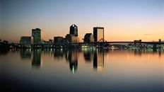 "47"" TV Screen Image #114 Jacksonville at Dusk (Screen Print Only. 47 Inch TV Prop Not Included)"