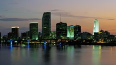 "47"" TV Screen Image #115 Miami at Dusk (Screen Print Only. 47 Inch TV Prop Not Included)"