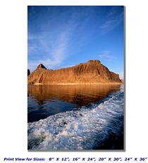 Rock Formations at Lake Powell on Canvas
