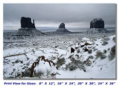 Snow in Monument Valley on Canvas