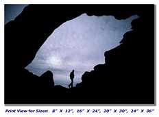 Hiking at the Arches National Park on Canvas