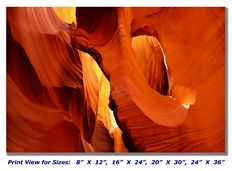 Sandstone Arch in Antelope Slot Canyon on Canvas