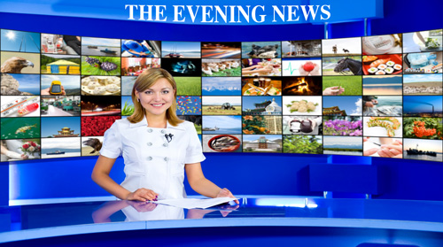 Screen Image Print #092 Evening News (Screen Print Only.)