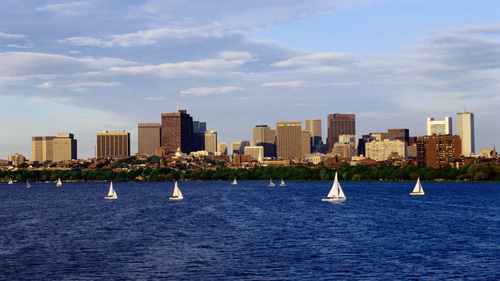 Screen Image Print #107 Massachusetts Bay in Boston (Screen Print Only.)