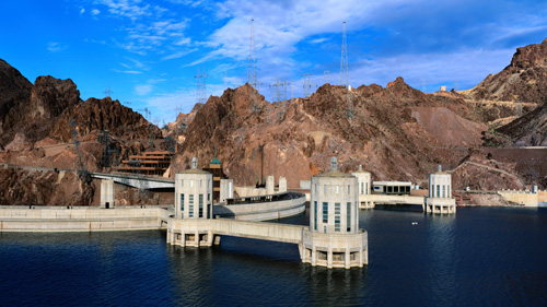 Screen Image Print #133 Hoover Dam (Screen Print Only.)