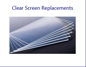 Clear Screen Replacements for TV Props and Computer Props
