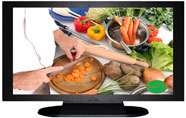 "27"" TV Prop Plasma-LED Flat Screen TV in Matte Black-XX Style Series with Food TV Screen"