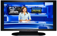 "27"" TV Prop Plasma-LED Flat Screen TV in Matte Black-XX Style Series with Hollywood News Screen"