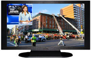 "27"" TV Prop Plasma-LED Flat Screen TV in Matte Black-XX Style Series with Emergency Response News Screen"