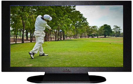 "47"" TV Prop Plasma-LED Flat Screen TV in Matte Black-XX Style Series with Golf Screen"