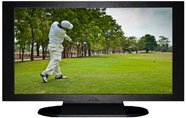 "27"" TV Prop Plasma-LED Flat Screen TV in Matte Black-XX Style Series with Golf Screen"