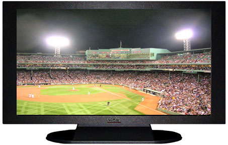 "47"" TV Prop Plasma-LED Flat Screen TV in Matte Black-XX Style Series with Baseball Game 2 Screen"