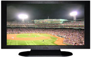"27"" TV Prop Plasma-LED Flat Screen TV in Matte Black-XX Style Series with Baseball Game 2 Screen"
