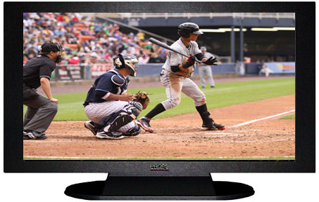 "47"" TV Prop Plasma-LED Flat Screen TV in Matte Black-XX Style Series with Baseball Game 1 Screen"