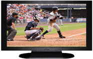 "27"" TV Prop Plasma-LED Flat Screen TV in Matte Black-XX Style Series with Baseball Game 1 Screen"