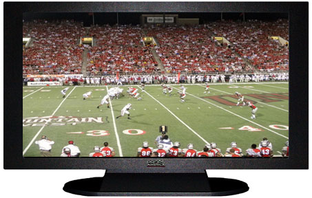 "52"" TV Prop Plasma-LED Flat Screen TV in Matte Black-XX Style Series with Football Game 2 Screen"