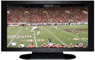 "27"" TV Prop Plasma-LED Flat Screen TV in Matte Black-XX Style Series with Football Game 2 Screen"