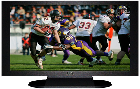 "47"" TV Prop Plasma-LED Flat Screen TV in Matte Black-XX Style Series with Football Game 1 Screen"