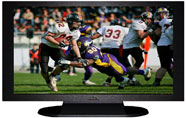 "27"" TV Prop Plasma-LED Flat Screen TV in Matte Black-XX Style Series with Football Game 1 Screen"