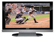 "52"" TV Prop LED HDTV Prop with Bottom Speaker in Gloss Black on Matte Silver-BB Style Series with Baseball Game 1 Screen"