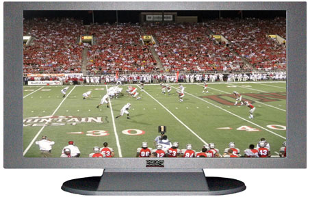 "22"" TV Prop Plasma-LED Flat Screen TV in Matte Silver-XX Style Series with Football Game 2 Screen"