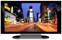 "27"" TV Prop Plasma-LED Flat Screen TV in Gloss Black on Matte Silver-XX Style Series with Time Square Screen"