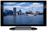 "27"" TV Prop Plasma-LED Flat Screen TV in Gloss Black on Matte Silver-XX Style Series with Chesapeake Bay Screen"